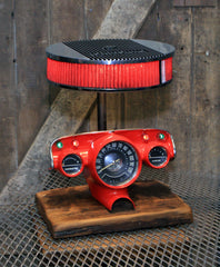 Steampunk Industrial / Antique 1957 Chevy Bel Air Dash / Automotive  / Edelbrock / Hot rod / Lamp #2789