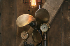 Steampunk Industrial / Antique boat propeller / Nautical / Marine / Lamp #1897