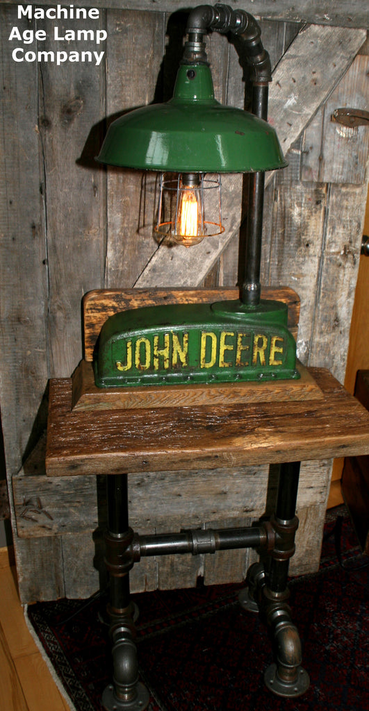 John Deere Table and Lamp - SOLD