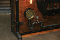 Steampunk Industrial / Bar / Railroad / Hostess Stand / Table / Pub / #2075