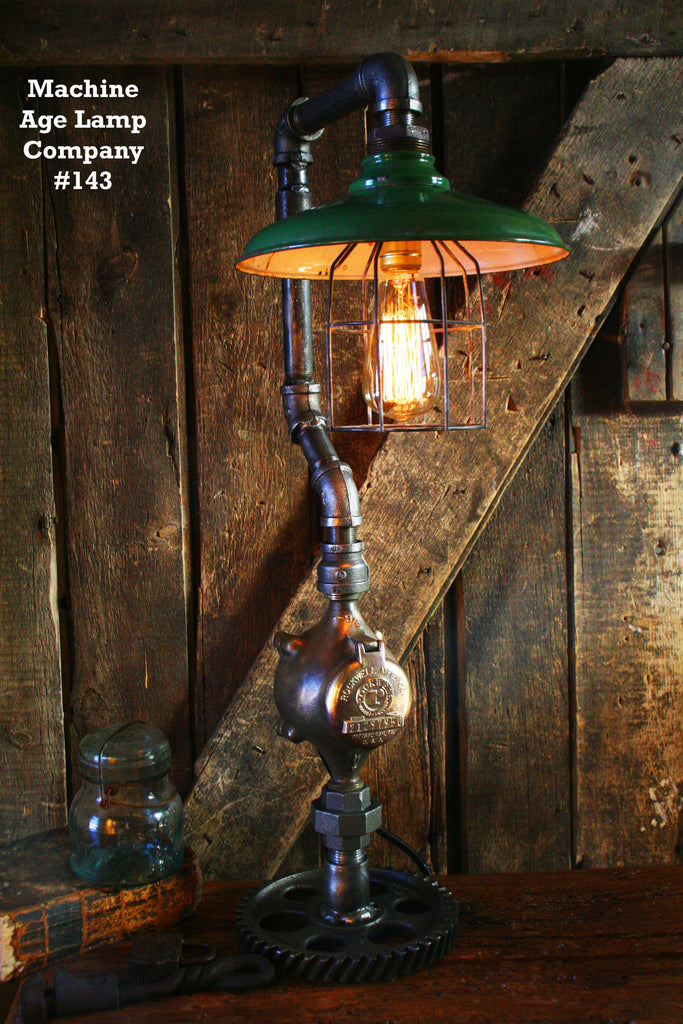 Antique Steampunk Industrial Lamp #144 - SOLD