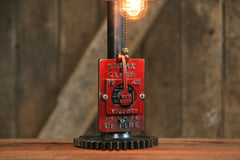 Steampunk Industrial / Fire Call Box Switch / Gear Base / Fireman / #2182 sold