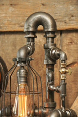 Steampunk Industrial / Steam Gauge / Pipe / Gear / Lamp #1474