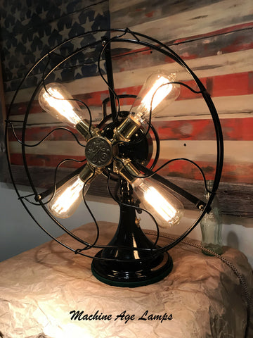 Steampunk Industrial Fan Lamp / GE General Electric / Restored / Art Deco / fan #dc 1760 sold
