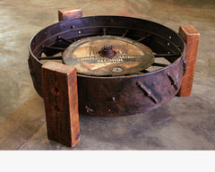 Steampunk Industrial / Farm / Antique Tractor Wheel / Coffee Table / #1670 sold