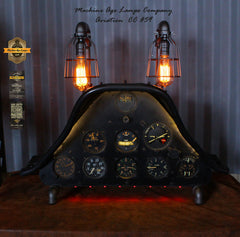 Airplane / Aviation / North American Aviation T-6 Texan Instrument Control Panel Lamp / #cc59