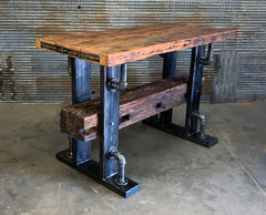 Steampunk Industrial / Bar / Hostess Stand / Table / Pub / Cabin Timber / #2796