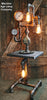 Steampunk Diamond Plate Industrial Lamp Table Stand Floor 2