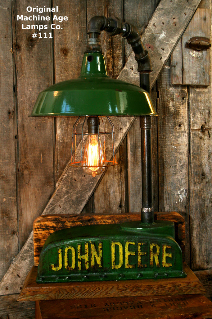 Steampunk Lamp, Rustic Industrial, Antique John Deere Tractor Radiator Lamp #111