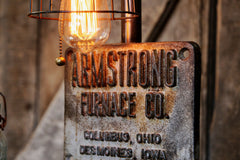Steampunk Industrial Lamp, Steam, Iron Builder Plate #409 - SOLD