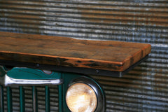 Steampunk Industrial / Original vintage 50's Jeep Willys Grille / Table Sofa Hallway / Green / Table #1842 sold