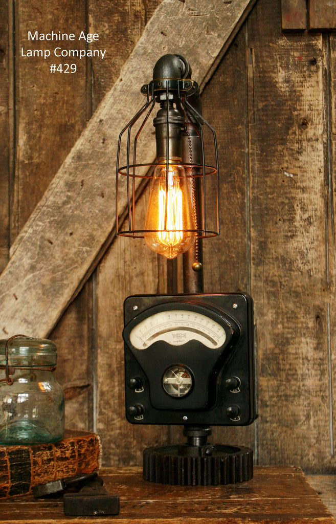 Steampunk Industrial, Antique Military Test Meter Lamp, #429 - SOLD