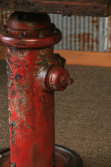 Steampunk Industrial Fire Hydrant Table / Stand / Table / #1408