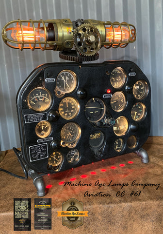 Airplane / Aviation / Actual T-6 Harvard MK II aircraft / Instrument Control Panel Lamp / #cc61