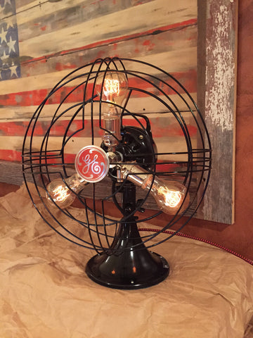 Steampunk Art Deco Antique General Electric Fan Lamp #DC7