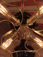 Steampunk Industrial Antique 1916 General Electric Fan Lamp #DC13