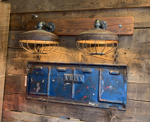 Steampunk Industrial / Willys Tailgate Wall Light / Sconce / Barnwood /Automotive /  Lamp #2731