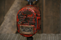 Steampunk Industrial / Samson Fire Call Box / Fireman Police / Alarm / Lamp #2213 sold