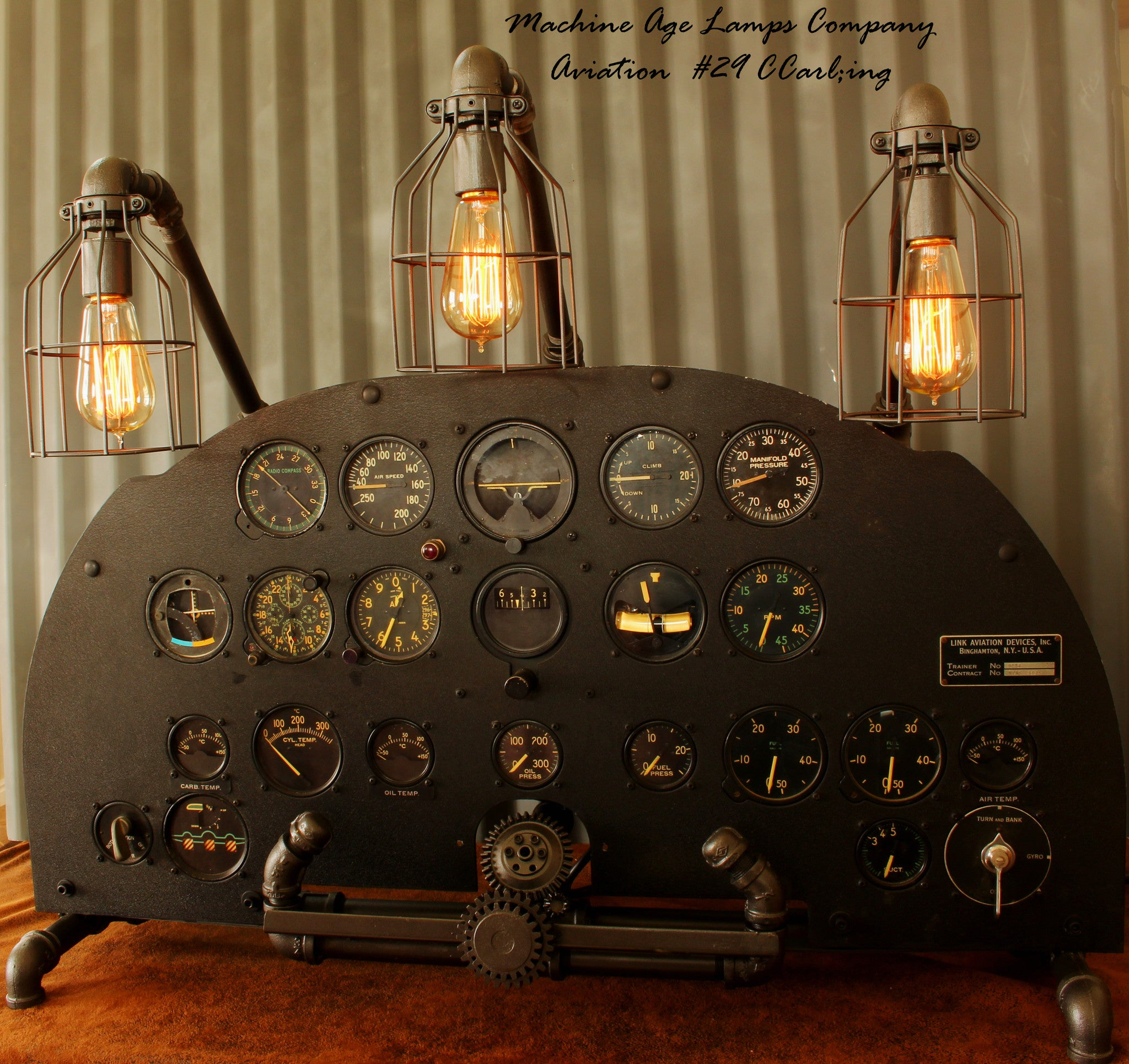 WWII Link Trainer Aviation Instrument Control Panel Lamp CC #29 - SOLD