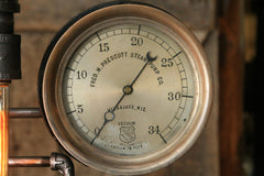 Steampunk Industrial Lamp, Steam Gauge, Oiler and Gear #913