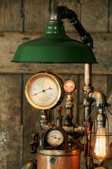 Steampunk Industrial, Fire Extinguisher Lamp - #849