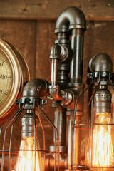 Steampunk Industrial Steam Gauge / Oiler Lamp #887