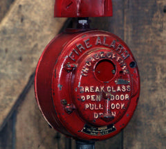 Steampunk Industrial / Fire Call Box Switch / Gear Base / Fireman / #2594