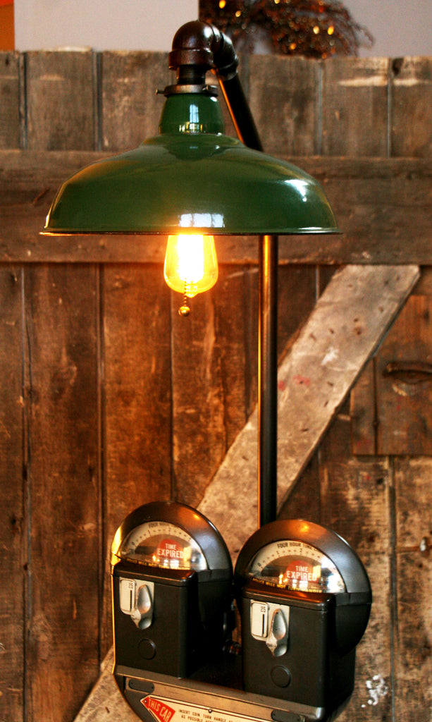 Steampunk Industrial Parking Meter Floor Lamp Steam