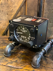 Steampunk Industrial / Aviation / Airplane / Instrument Panel /  Bomber / Lamp #3180