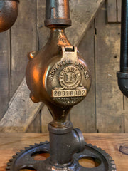 Steampunk Industrial / Buffalo NY / Machine Age Lamp / Antique Steam Gauge / Railroad  / Lamp #3175