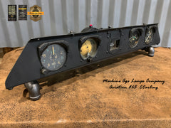 Aviation Instrument Control Panel Lighted Display / Machine Age Lamp / Airplane / Lamp #65