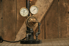 Steampunk Industrial Lamp / Antique Welding Regulator / Lamp #1944