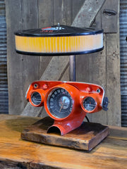 Steampunk Industrial / Antique 1957 Chevy Bel Air Dash / Hot rod / Automotive / Lamp #3039