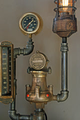 Antique Steam Gauge and Thermometer - SOLD