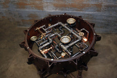 Steampunk Industrial Table / Antique  Farmall F-20 tractor wheel Pub Table / #dc119