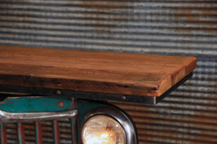 Steampunk Industrial / Willys Jeep / Grill Table / Barnwood Top / Table #1954 sold