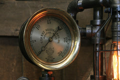Steampunk Industrial Lamp / Shawn Carling / Boston / Steam Gauge / Lamp #1822 sold