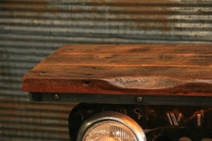 Steampunk Industrial / JEEP Willys / CJ3B / Barn Wood Top / Table #2158