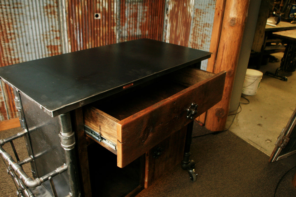 Steampunk Industrial Bar Hostess Stand Table Pub