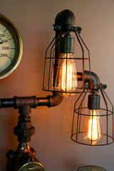 Steampunk Machine Age lamp Steam Gauge #84 - SOLD