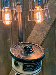 Steampunk / Machine Age Lamp / US Army Tank / Indicator azimuth ordinance / #3141