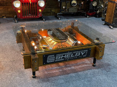 Steampunk Industrial / Carroll Shelby / Manifold / Valve Cover / Automotive / coffee Table #3305