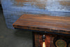 Steampunk Industrial, Barn wood and Iron Frick Co Steam Gauge Table,   #1828