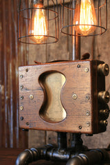 Steampunk Industrial Lamp / Electrical Meter / Gauge / #1208 - SOLD