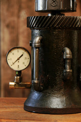 Steampunk Industrial, Lighthouse Steam Gauge Gear lamp #815 sold