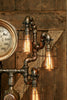 Steampunk Industrial Steam Gauge Lamp, New Haven Conn, #956