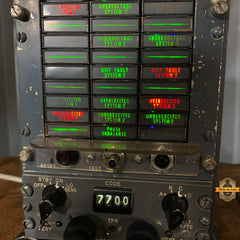 Aviation Instrument Control Panel Lighted Display / Machine Age Lamp / Airplane / Lamp #64 sold