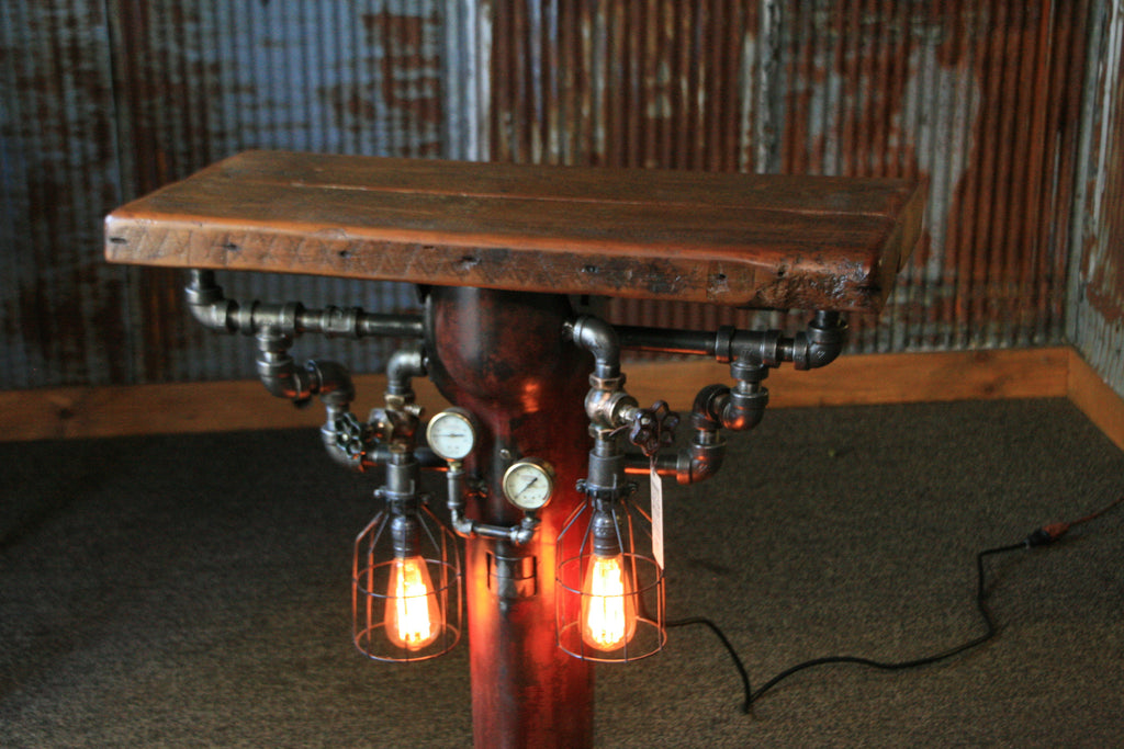 Steampunk Industrial Table Stand Vanity Console 958