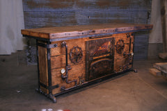 Steampunk Industrial / Bar / Barnwood  / Hostess Stand / Large 8' Table / Pub / #3100