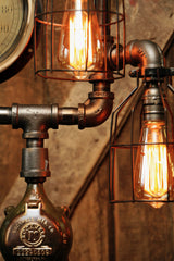 Steampunk Industrial Steam Gauge Lamp, Minneapolis MN #651